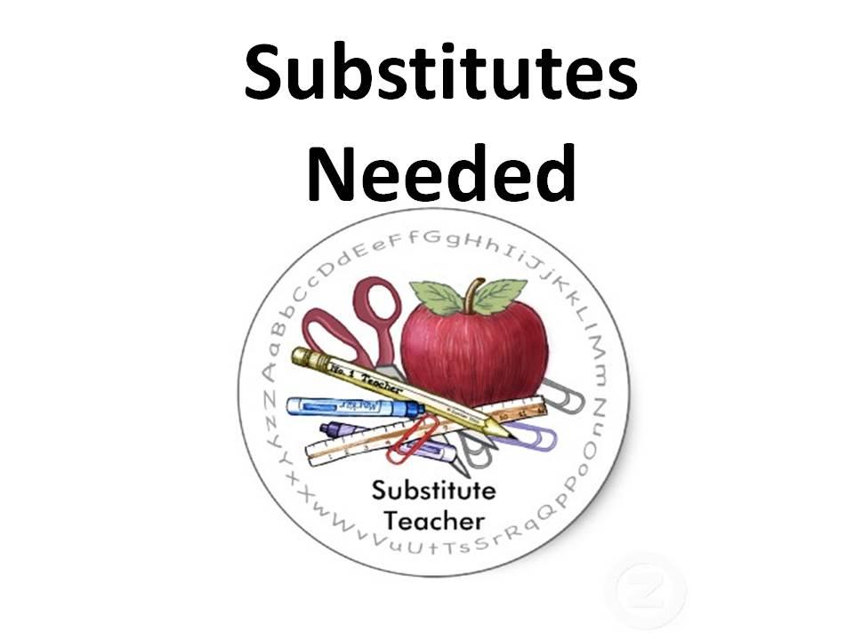 Substitutes Needed!