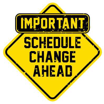 School Board Meeting Changes for Feb & March